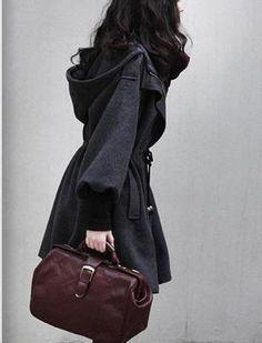 Grey Women Coat wool Jacket women dress Winter by fashiondress6, $75.00