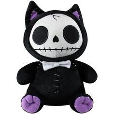Furrybones Black Mao Mao Plush ($25) ❤ liked on Polyvore featuring other, toys, stuffed animals and decor