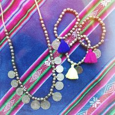 Rossio Roos Mohana coin necklace & Milly tassel coin bracelets