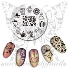 Coffee Nail Art Stamping Plate