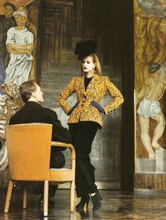 Karen Mulder by Helmut Newton for Yves Saint Laurent S/S 1992