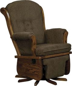 Swanback Swivel Glider | Indiana Amish Glider Rocker | Customizable Glider Rocker