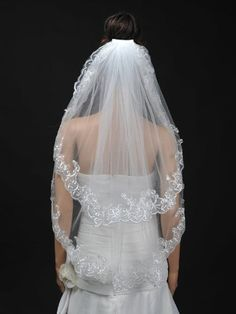 Remedios 2T Tulle Fingertip Length Wedding Veil with Embroidered Hem, Ivory, http://www.amazon.com/dp/B00H2G0BR2/ref=cm_sw_r_pi_awdm_a2NSwb1R1DC3F