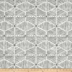 Grey Home Decor Fabric by the Yard, Designer Tribal Grey Drapery or Upholstery Fabric, Grey Cotton Tribal Fabric for Home Decor & Crafts Grey Home Decor, Home Decor Fabric, Fabric Crafts, Textures Patterns, Fabric Patterns, Painted Patterns, Tribal Fabric, Grey Fabric, Drapery Designs