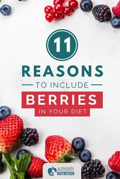 Berries are among the healthiest and most nutritious foods on earth. Here are 11 ways that eating berries can improve your health. Healthiest Foods, Most Nutritious Foods, Ketogenic Recipes, Diabetic Recipes, Healthy Recipes, Nutrition Articles, Diet And Nutrition, Diet Reviews, Best Fruits