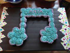 Music note cupcake cake