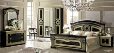 ESF Aida Traditional Black Veneer With Gold Accents Classic Italian King Size Bedroom Set * You can get even more information by clicking the image. (This is an affiliate link). Italian Bedroom Sets, Black Gold Bedroom, Classic Bedroom Furniture, King Size Bedroom Sets, Veneer Panels, Leather Sofa Set, Bedroom Decor, Bedroom Scene, Classic Italian