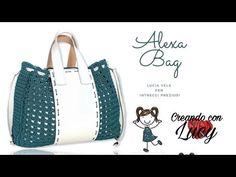 Top Les, Crochet Handbags, Crochet Videos, Market Bag, Gym Bag, Crochet Top, Shabby Chic, Purses, Pattern