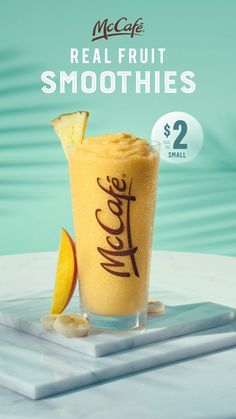 Fast Food Advertising, Creative Advertising, Food Graphic Design, Food Design, Juice Ad, Mango Pineapple Smoothie, Frosty Recipe, Feeds Instagram, Manualidades Halloween