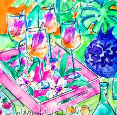 Popsicles in prosecco. #IsItTheWeekendYet? #Lilly5x5