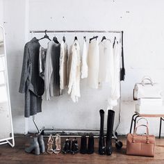 Unfortunately we didn't get to take everything home with us. Vintage Industrial Bedroom, Industrial Chic Style, Industrial Closet, Hanging Closet, Wardrobe Closet, Capsule Wardrobe, Home Office Decor, Decor Interior Design, Decoration