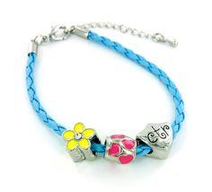 """Amazon.com: CTR Charm & Beads 8"""" Braided Bracelet: Jewelry"""