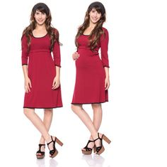 Viva la Mama   Nursing dress MEMPHIS (bordeaux). This breathtaking knee-length breast feeding dress charms everybody with its sweet neckline. MEMPHIS is beautiful but also functional for discreet nursing. It can be varied for different occasions, from elegant to casual.
