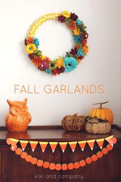 Free printable Fall Garlands -cute!