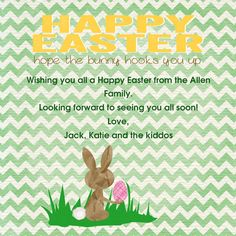 Happy Easter Bunny Chevron designed by Two Branching Out on Celebrations.com