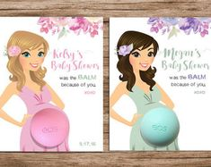 EOS Baby Shower Favors Printable Favor Tags by DianaMariaStudio