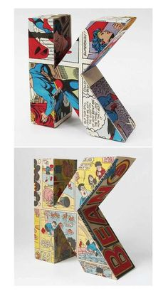 Vintage Comic Letter Decorations