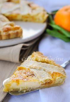 Tart with mascarpone and orange marmalade vickyart art in the kitchen Sweets Recipes, Baking Recipes, Sweet Desserts, Delicious Desserts, Ricotta, Mascarpone Recipes, Flan, Torte Cake, Sicilian Recipes