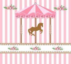 Consulte outros tamanhos. Os painéis sublimados Mine são a escolha certa para decorar a sua festa. Produzidos em tecido 100% poliéster e impressão através de sublimação, proporcionam um efeito único e com a qualidade que você precisa. - Artes personalizadas (consulte valores). - Acabamento a... Carousel Birthday Parties, Carousel Party, Circus Birthday, Circus Party, 1st Birthday Girls, Baby Girl Scrapbook, Baby Girl Announcement, Baby Favors, Pony Party