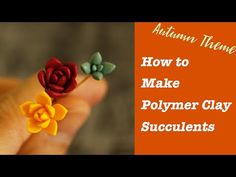 In this tutorial, you will learn three different shapes of polymer clay succulent using autumn color pallet and how to use them to diy a pair of earrings