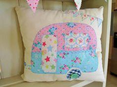 Caravan Cushion Patchwork Kit Vintage Retro Cath Kidston Fabric Sewintocrafts! in Home, Furniture & DIY, Home Decor, Cushions | eBay