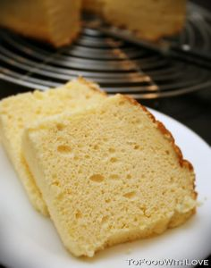 To Food with Love: Lemon, Passionfruit and Coconut Chiffon Cake