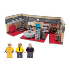 """Superlab Playset - Bummed out that """"Breaking Bad"""" is going off the air? Well soothe yourself with the Citizen Brick Superlab Playset. Who knows what fun you'll cook up with this deluxe set, chock full of realistic details, and three exclusive minifigs! Over 500 parts! (* only $250!)"""