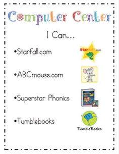 Computer Center Sign - make a list of listen to read options