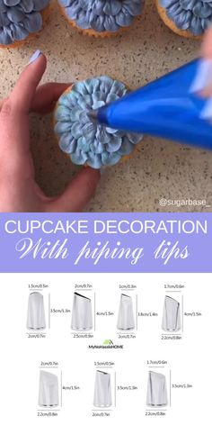 Cupcake Bouquet Discover Cupcake decoration ideas with piping tips Use piping tips for beautiful cupcakes decoration Cupcake Decoration, Cupcake Decorating Tips, Cake Decorating Frosting, Creative Cake Decorating, Frosting Tips, Birthday Cake Decorating, Cookie Decorating, Decorating Ideas, Decor Ideas