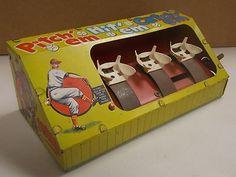 RARE Marx Toys Vintage Pitch'Em Hit'Em Catch'Em Baseball Game