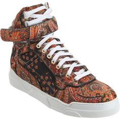 Givenchy Paisley Print High Top at Barneys.com