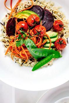 Vegan Brown Rice Buddha Bowl | VEGETARIAN DEPARTMENT