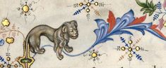 BibliOdyssey: Bordering on Animals Renaissance, Medieval, Jacobean Embroidery, Acanthus, Illuminated Manuscript, Mythical Creatures, Swirls, Lions, Marie