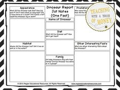 """$ Tiered dinosaur report writing templates to support diverse needs of students!  The """"Dinosaur Report Writing"""" package is aligned with the common core and contains materials to support your students as they write a dinosaur report."""