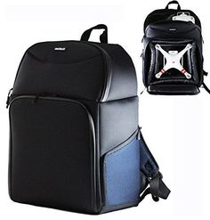Navitech Rugged Black & Blue Backpack / Rucksack For Drones / Quadcopters Including The Syma x13 Storm / Syma X11 Hornet ** Be sure to check out this awesome product.