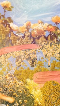 Bonfire Heart, Yellow Wildflowers, Wild Flowers, Collage, Photo And Video, Painting, Instagram, Collages, Painting Art