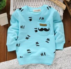 Print Pattern Full Sleeve O Neck Cotton Fashion Tees For Kids Boys. #ShopOnline #KidsClothes #MehdiGinger
