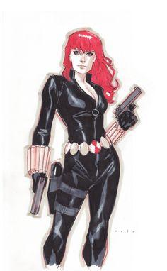 Black Widow by Phil noto Comic Art