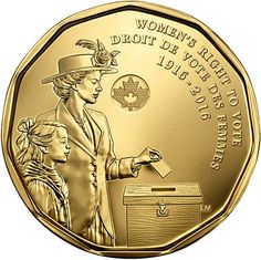 2016 100 Years Womens Right To Vote Canada Loonie Dollar New From Mint Roll Unc Rare Coins Worth Money, Valuable Coins, Women Right To Vote, Vancouver, Canadian Things, Money Pictures, Cash Today, Coin Design, Vows