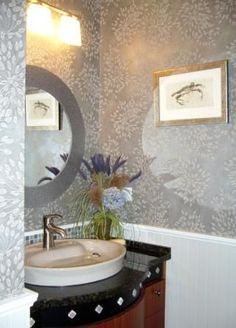 ... - Coastal Powder Room Design Ideas - Design Idea in Fairfax VA