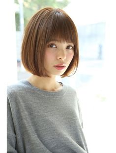 Asian Short Hair, Short Hair With Bangs, Asian Hair, Short Bob Haircuts, Girl Haircuts, Medium Hair Cuts, Medium Hair Styles, Japan Hairstyle, Shot Hair Styles