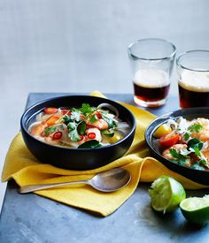 Prawn and pineapple tom yum with rice noodles recipe | Summer soup recipe - Gourmet Traveller