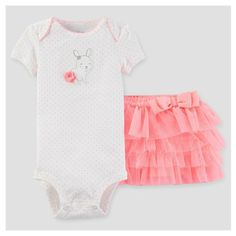 Baby Girls' Just One You Carter's Bunny Polka Bodysuit w Skirt Size 6 Months NEW #JustOneYoubyCarters #Everyday