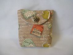 Beige Tea Bag Print Tea Wallet by TeaHens on Etsy, $10.00 What a cool thing! I need this!
