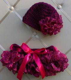 Sashay Ruffle Skirt and Hat set on Etsy, $20.00