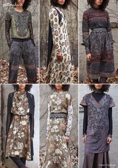 Gary Graham eclectic layered collection took references from old historic textiles. Patternbank loved theexquisite detail of the dramatic embroideries and