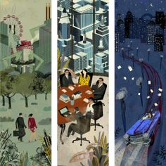 Beautiful illustrations by Italian artist, Livia Cives, for the 2014 Buffetti promotional calendar