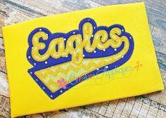 Eagles Digital Machine Embroidery Applique by Creativeapplique