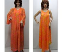 Vintage 60s Dress  60s Beach Cover Up 60s by RosasVintageFinds