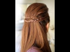 Party Half Braided Hairstyle Tutorial
